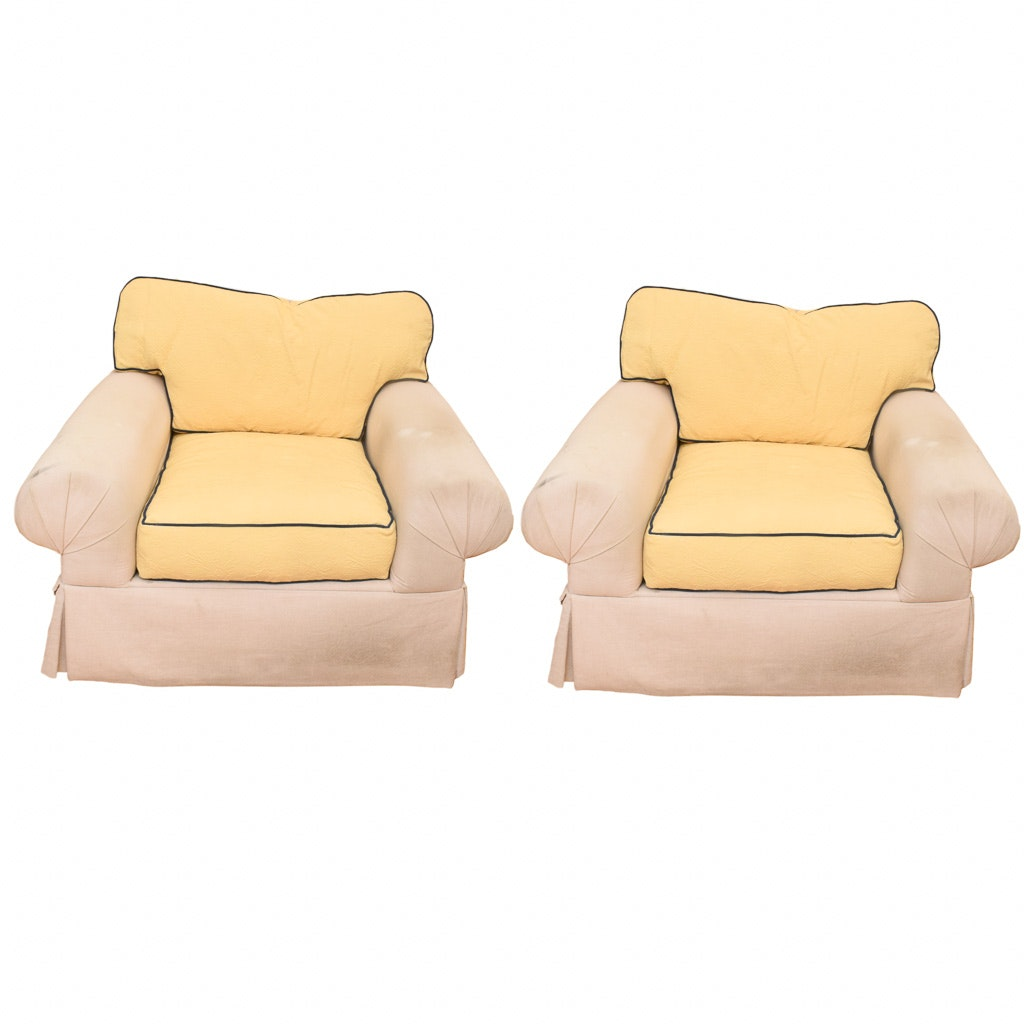 Upholstered Armchairs by Krause's Sofa Factory