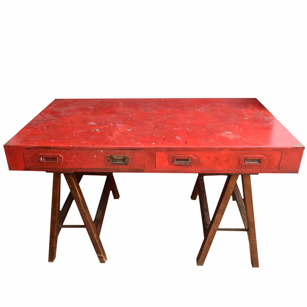 Painted Red Campaign Desk