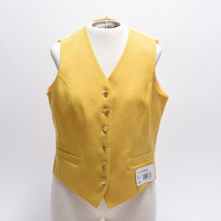a3a7261ec2a87 Women's R.J. Classics Aiken Fox Hunting Yellow Vest : EBTH