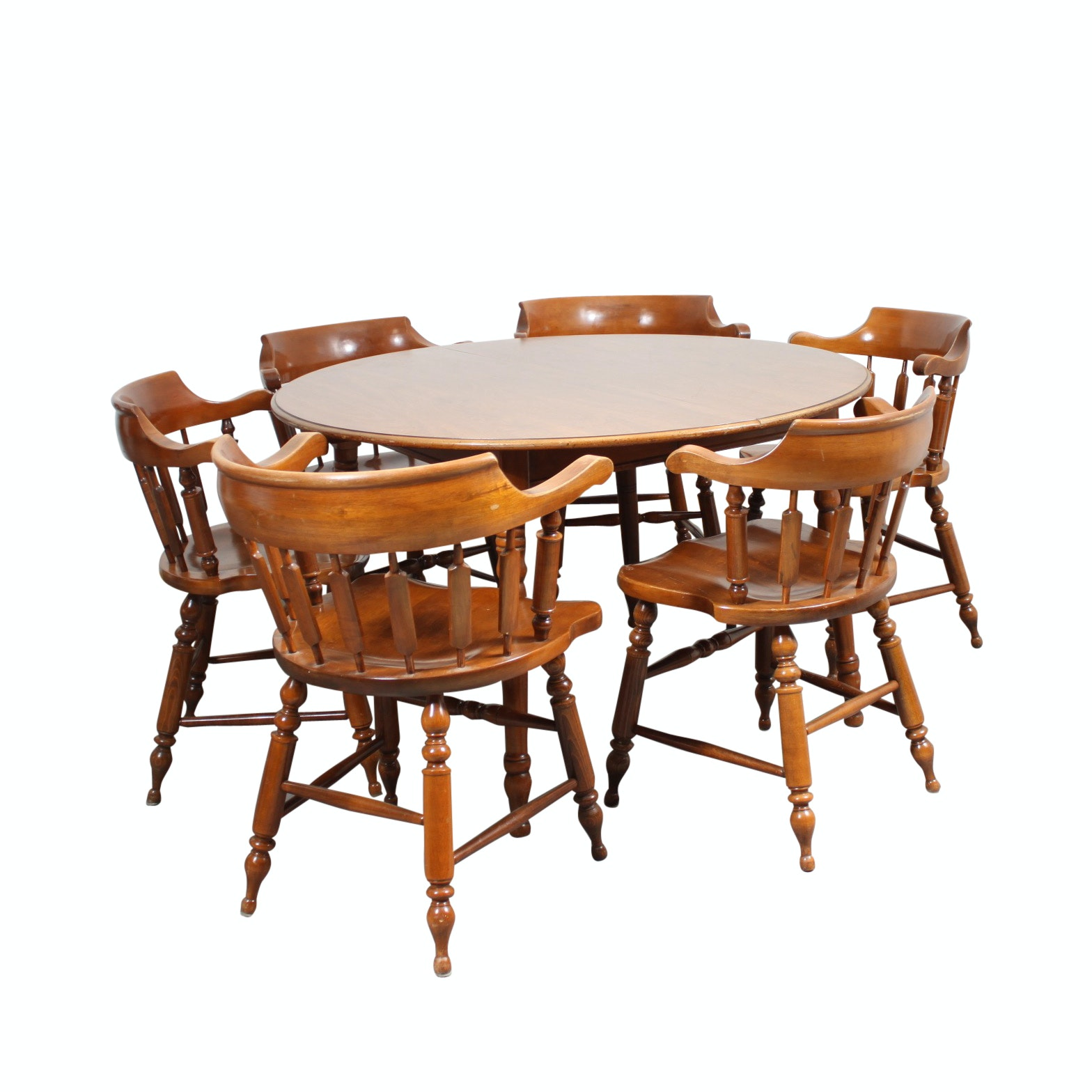 Heywood Wakefield Dining Table And Chairs ...