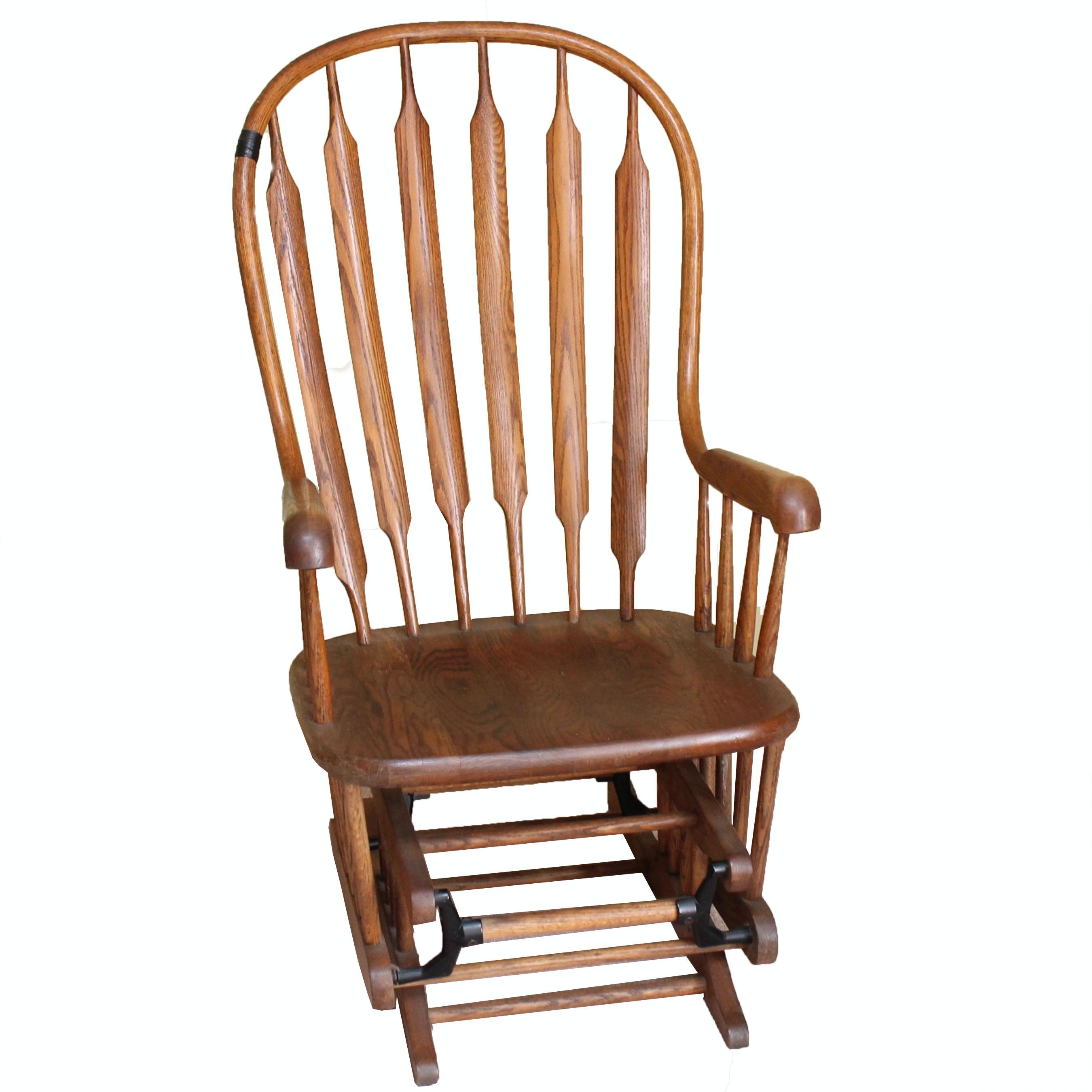 Oak Glider Rocking Chair ...