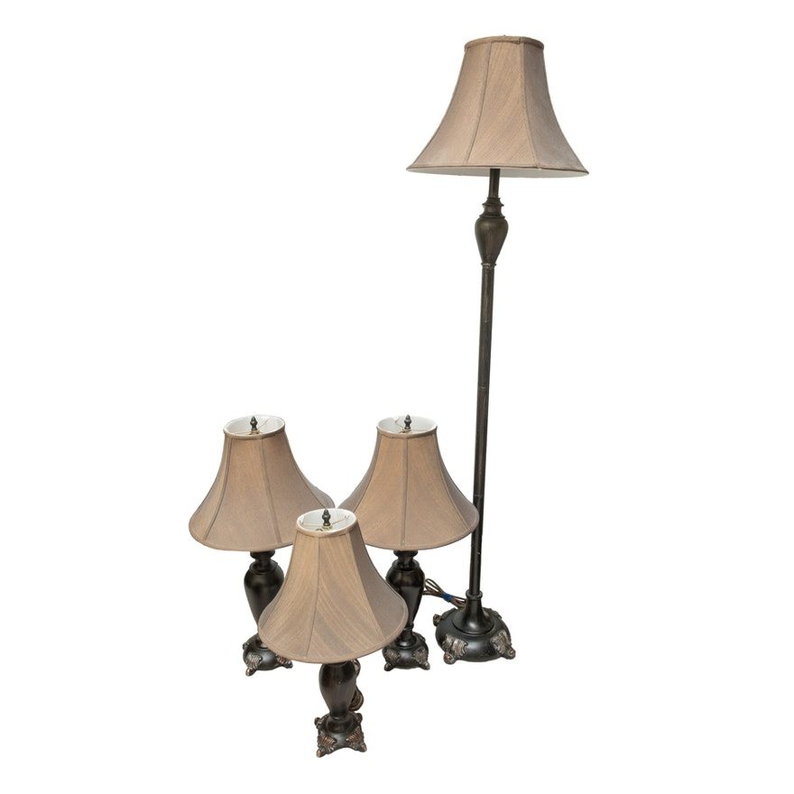 Floor Lamp with Matching Table Lamps : EBTH