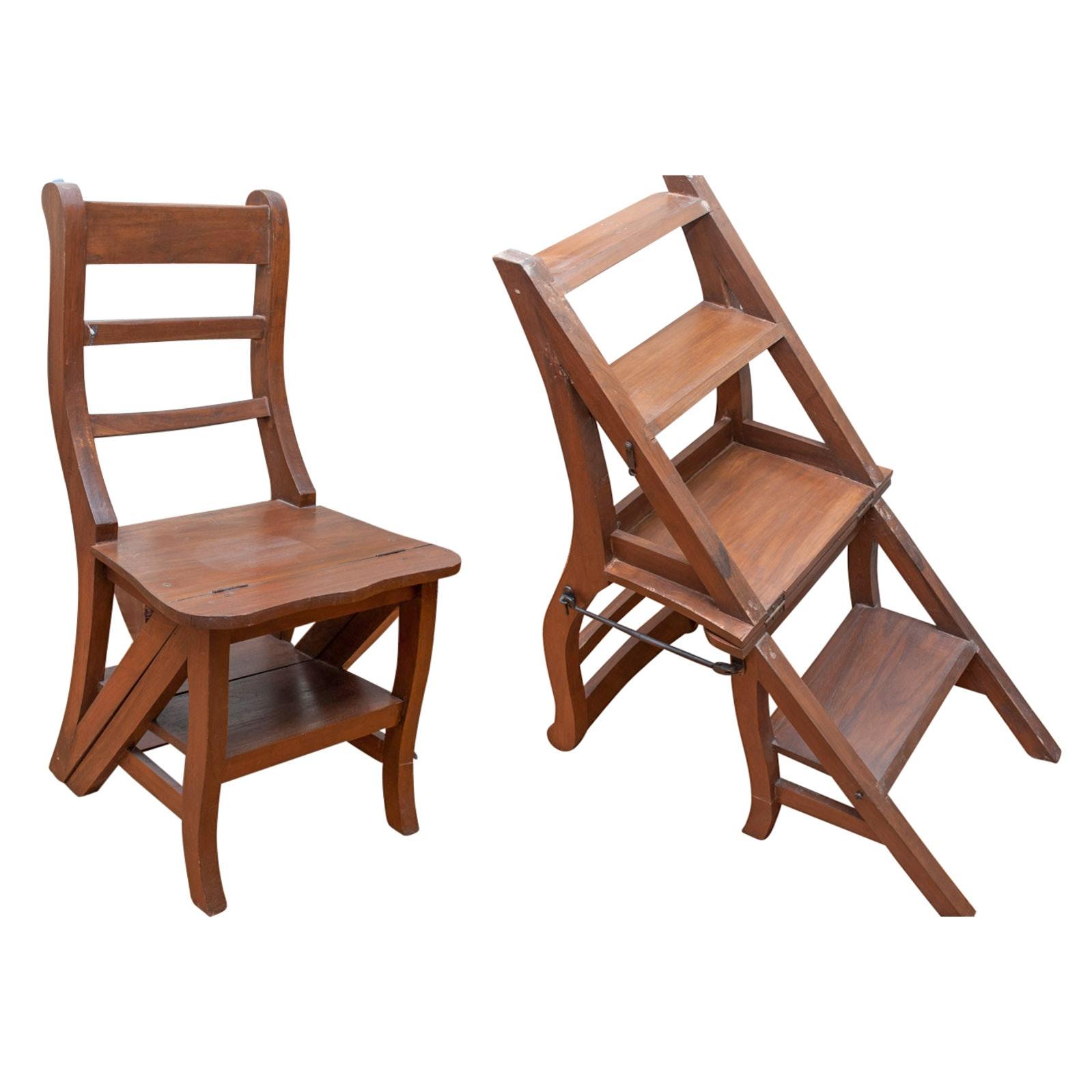 Vintage Franklin Chair / Step Stool ...  sc 1 st  Everything But The House & Vintage Franklin Chair / Step Stool : EBTH