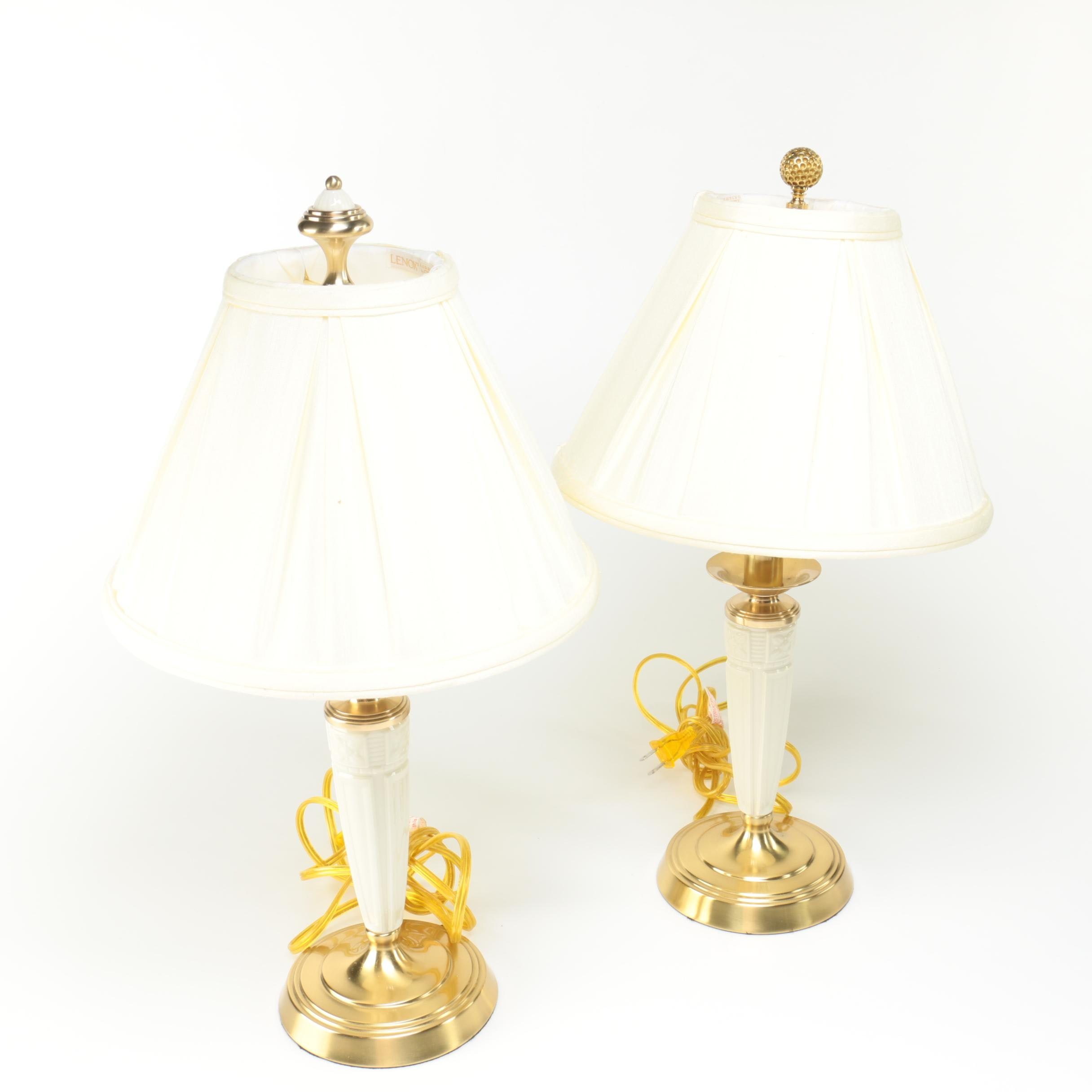 "Pair of  Lenox ""Forum"" Table Lamps"