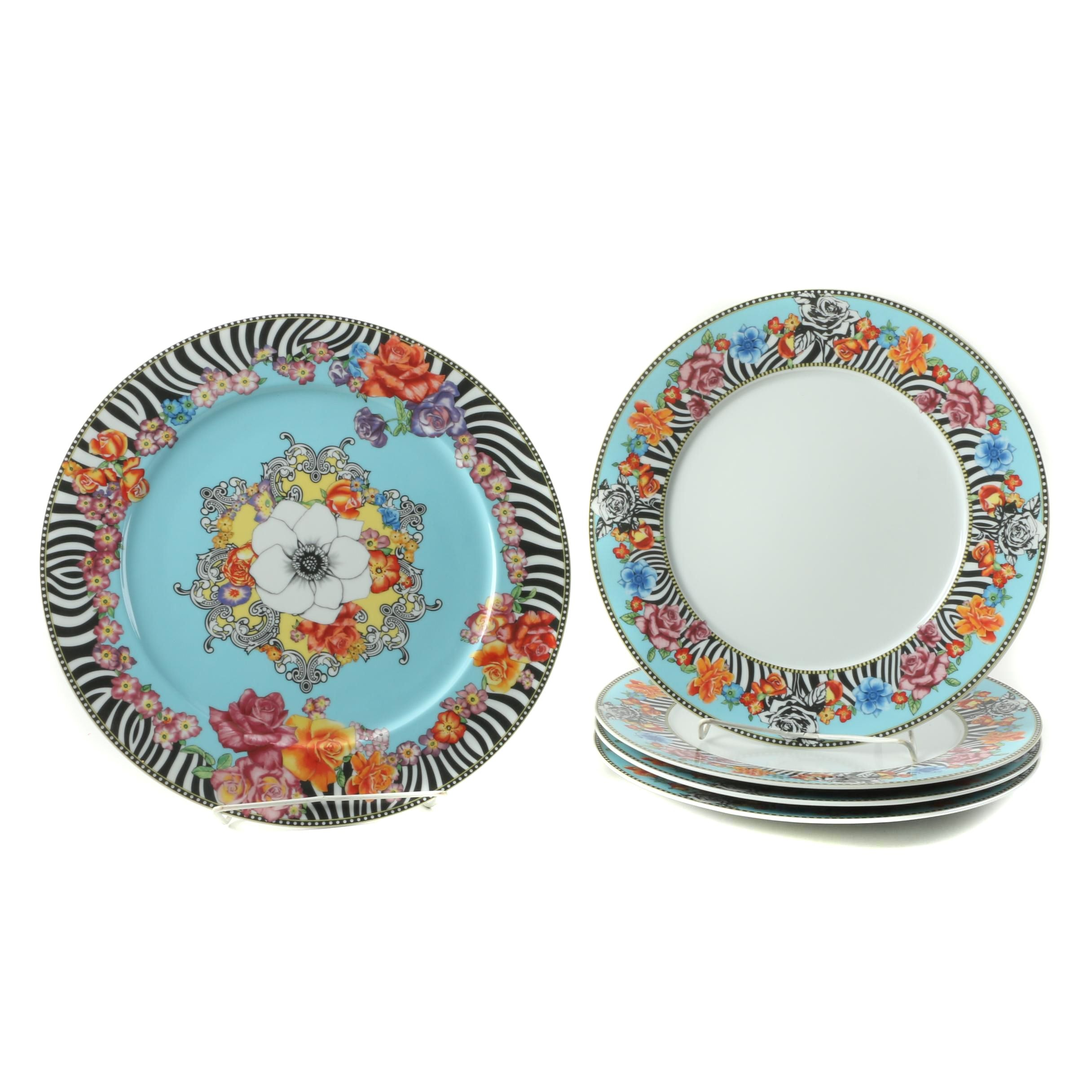 Rosenthal- Continental Versace \ Hot Flowers\  Plates and Serving Platter ...  sc 1 st  EBTH.com & Rosenthal- Continental Versace \