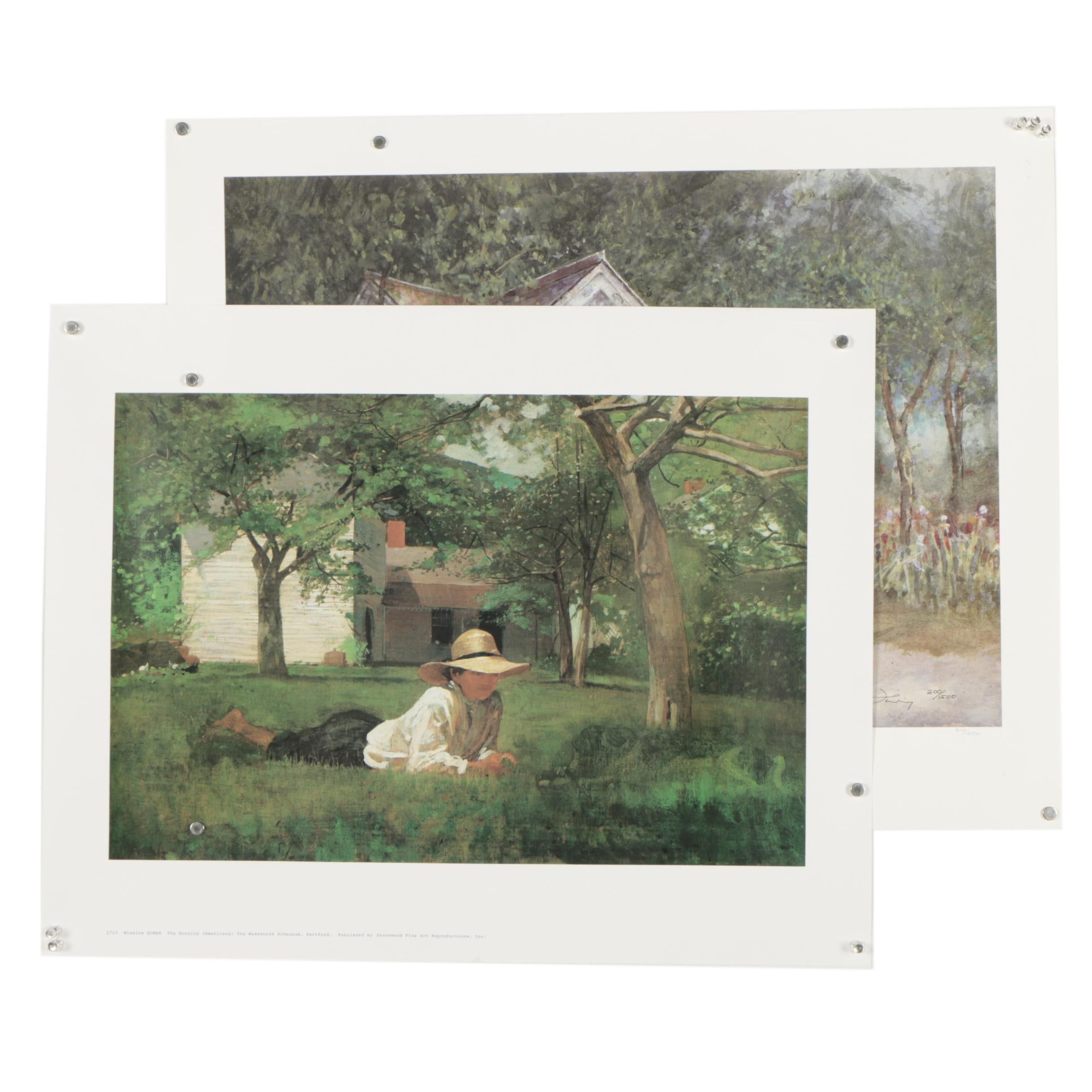 Offset Lithographs After Winslow Homer and Donny Finley