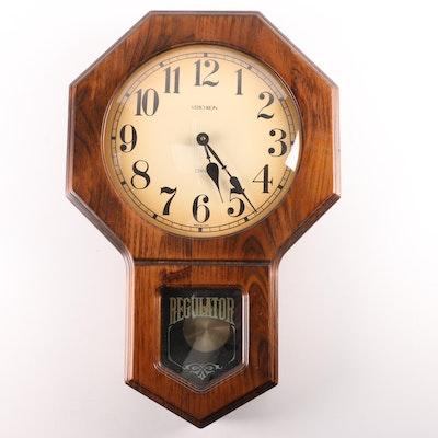 Verichron Regulator Battery Powered Pendulum Wall Clock Ebth