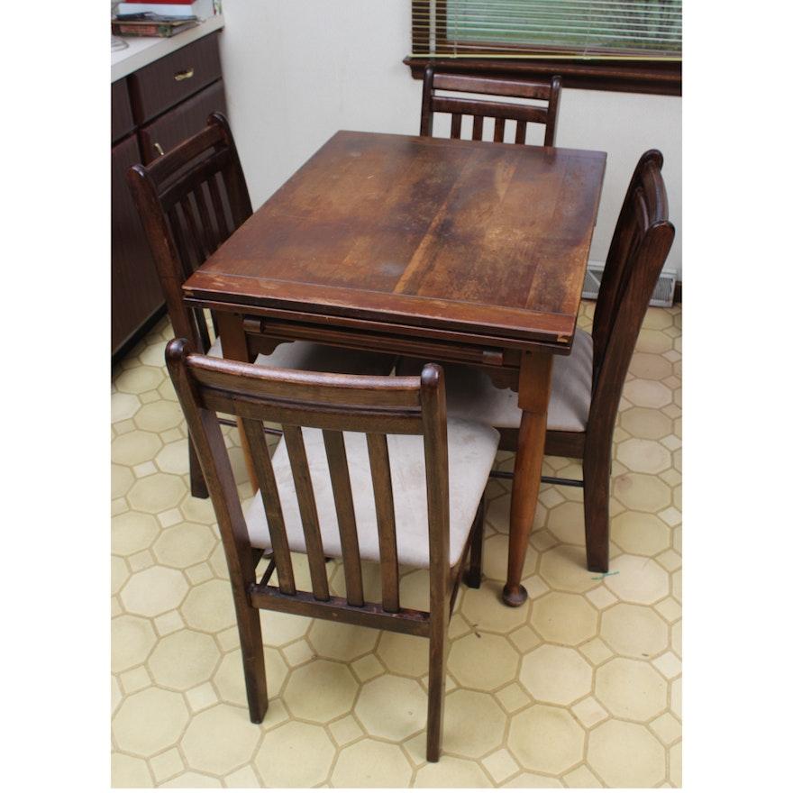 Vintage Stickley Furniture Draw Leaf Table and Dining Chairs ... - Vintage Stickley Furniture Draw Leaf Table And Dining Chairs : EBTH