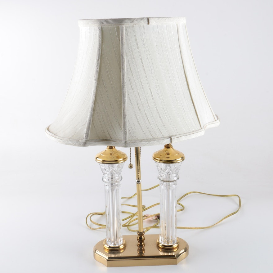 Waterford crystal parkmore pillar table lamp ebth waterford crystal parkmore pillar table lamp aloadofball Image collections