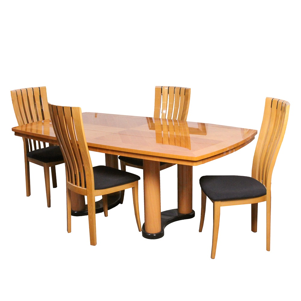 Italian Modern Dining Table and Chairs by Excelsior Designs