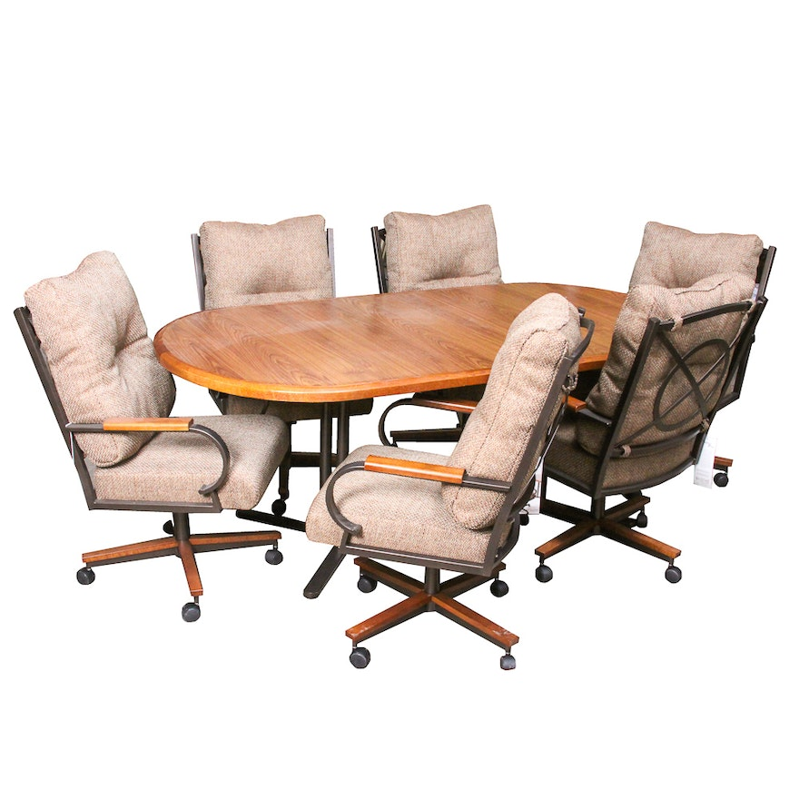 Conference Table And Six Rolling Armchairs EBTH - Rolling conference table