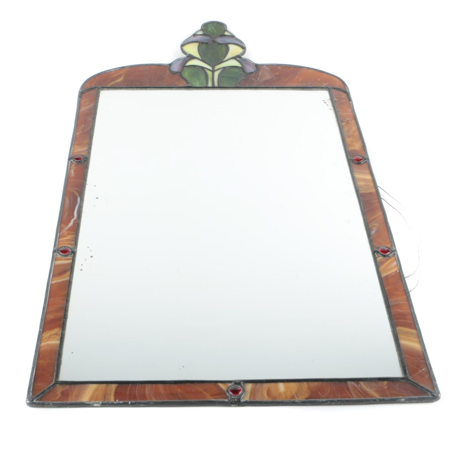 Wall Mirror With Stained Gl Frame