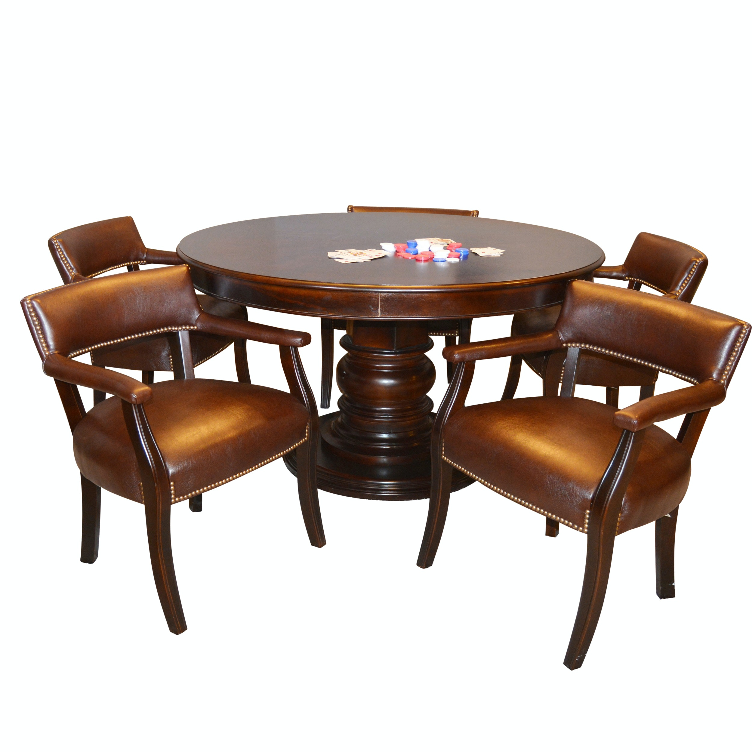 Game Table With Five Fairfield Chairs ...