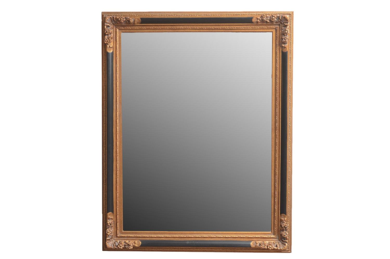 Large Vintage Wood Framed Wall Mirror