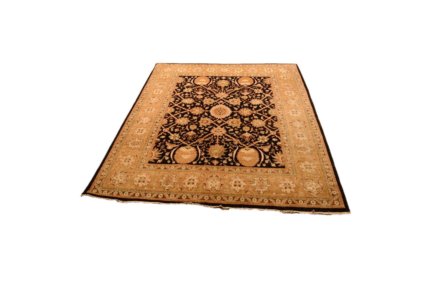 "Hand-Knotted Persian-Style ""Mughl/Ahad"" Wool Area Rug"