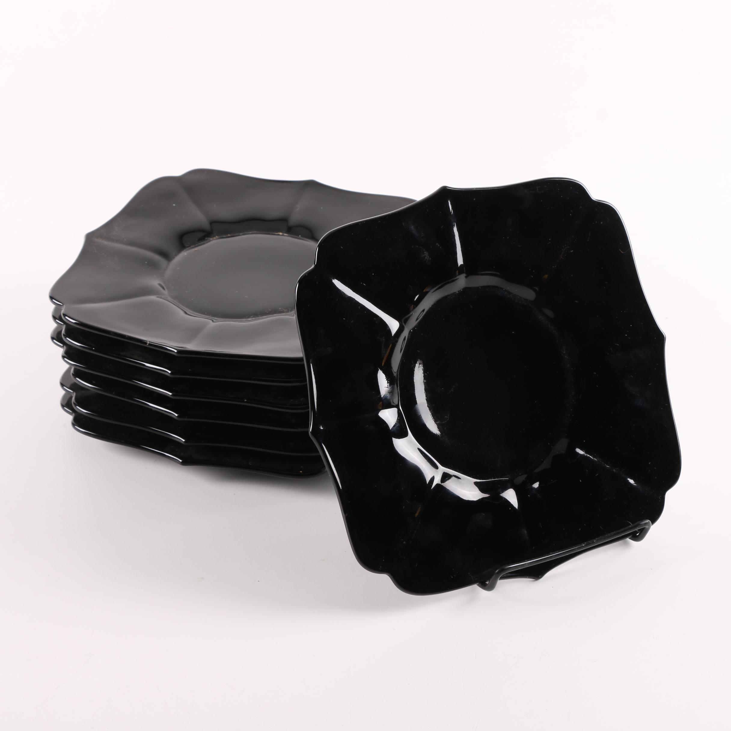 Black Amethyst Glass Plates ... & Black Amethyst Glass Plates : EBTH