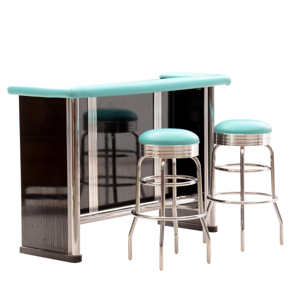 Contemporary Mid-Century Bar