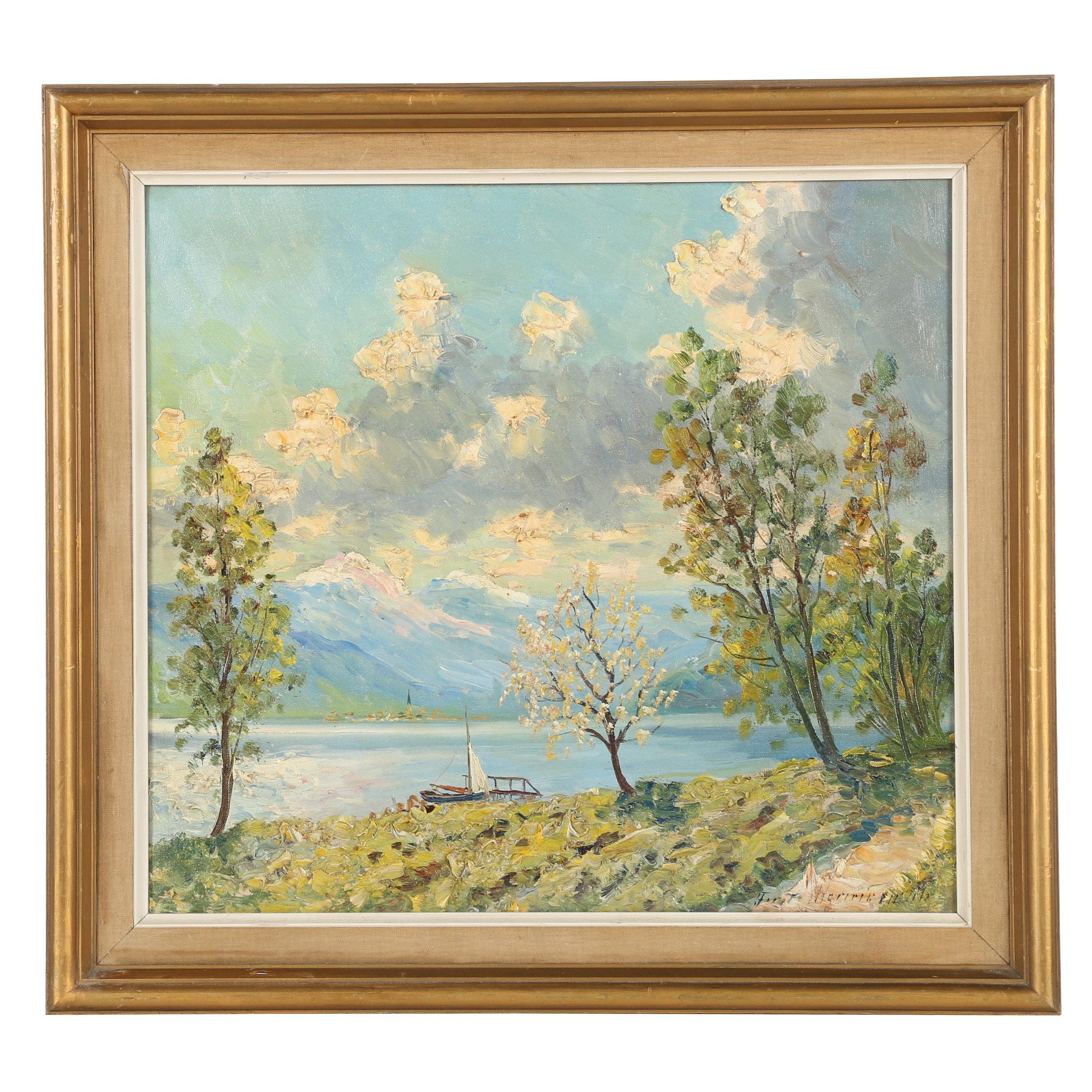 Finn Wennerwald Oil Painting