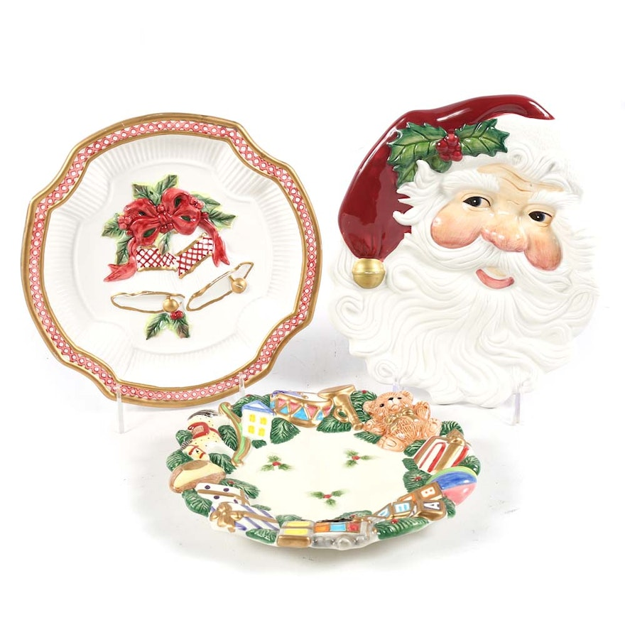 fitz and floyd decorative christmas plates - Decorative Christmas Plates