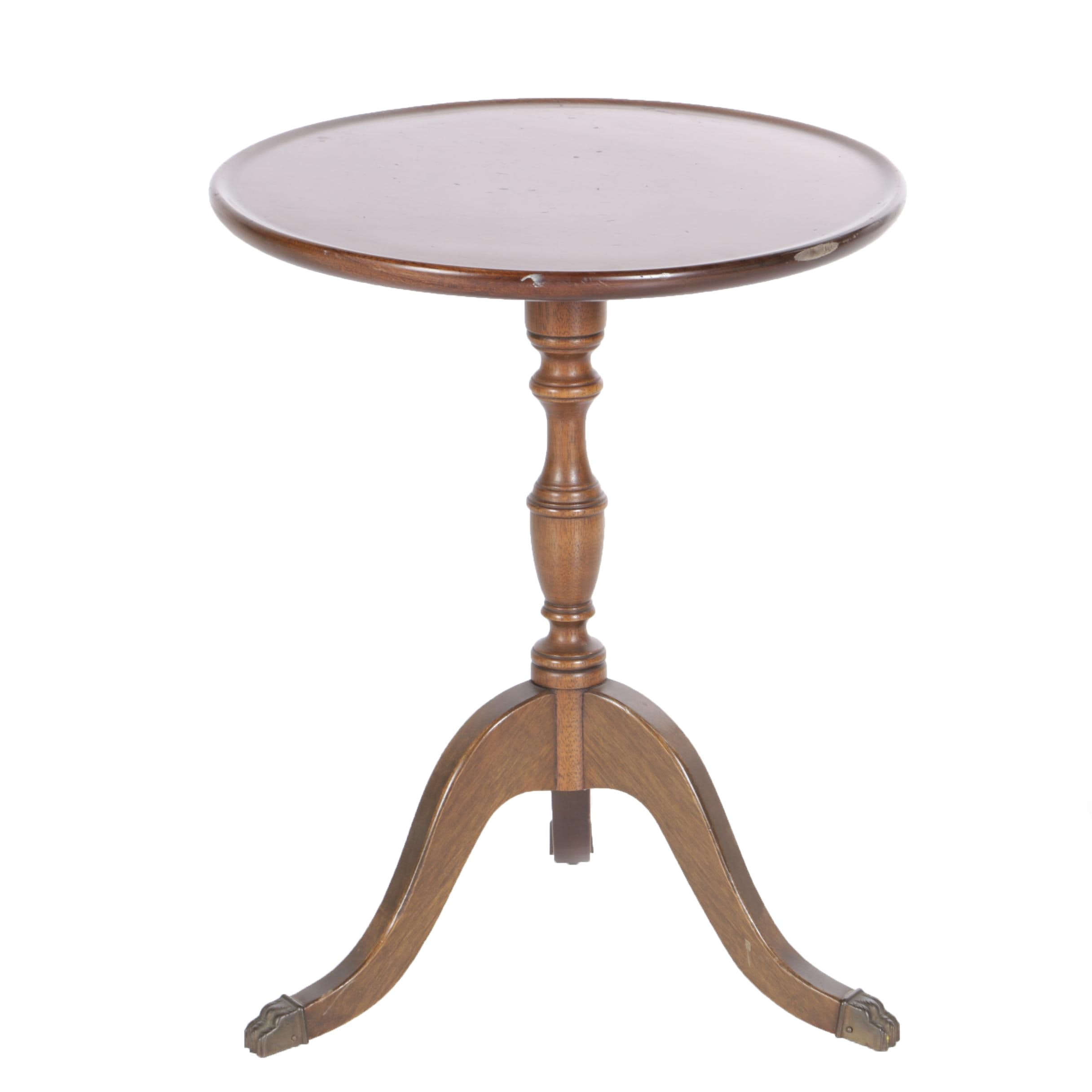 Vintage Federal Style Mahogany Accent Table ...