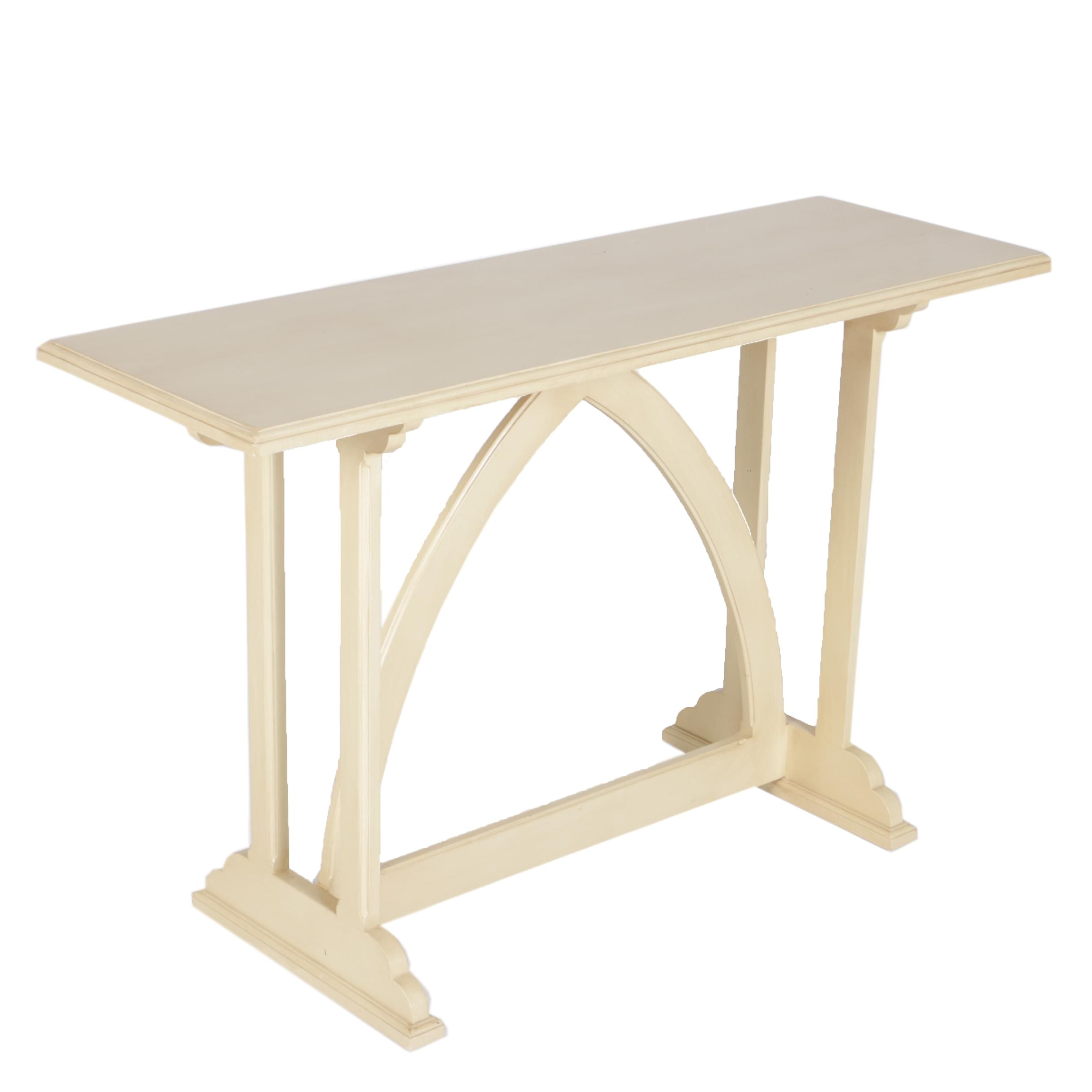 Cream Painted Trestle Console Table ...