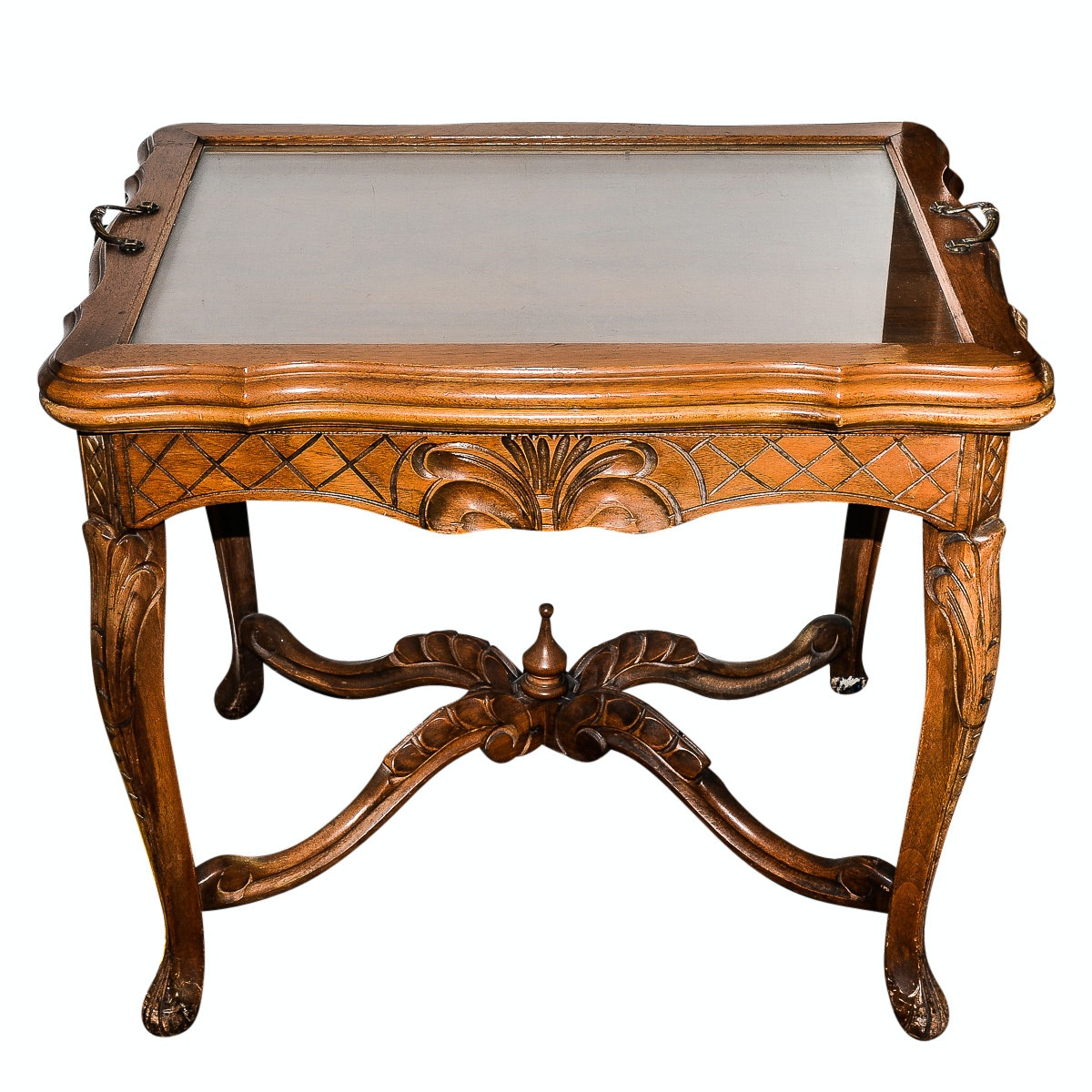 Rococo Revival  Style Tray Top Side Table