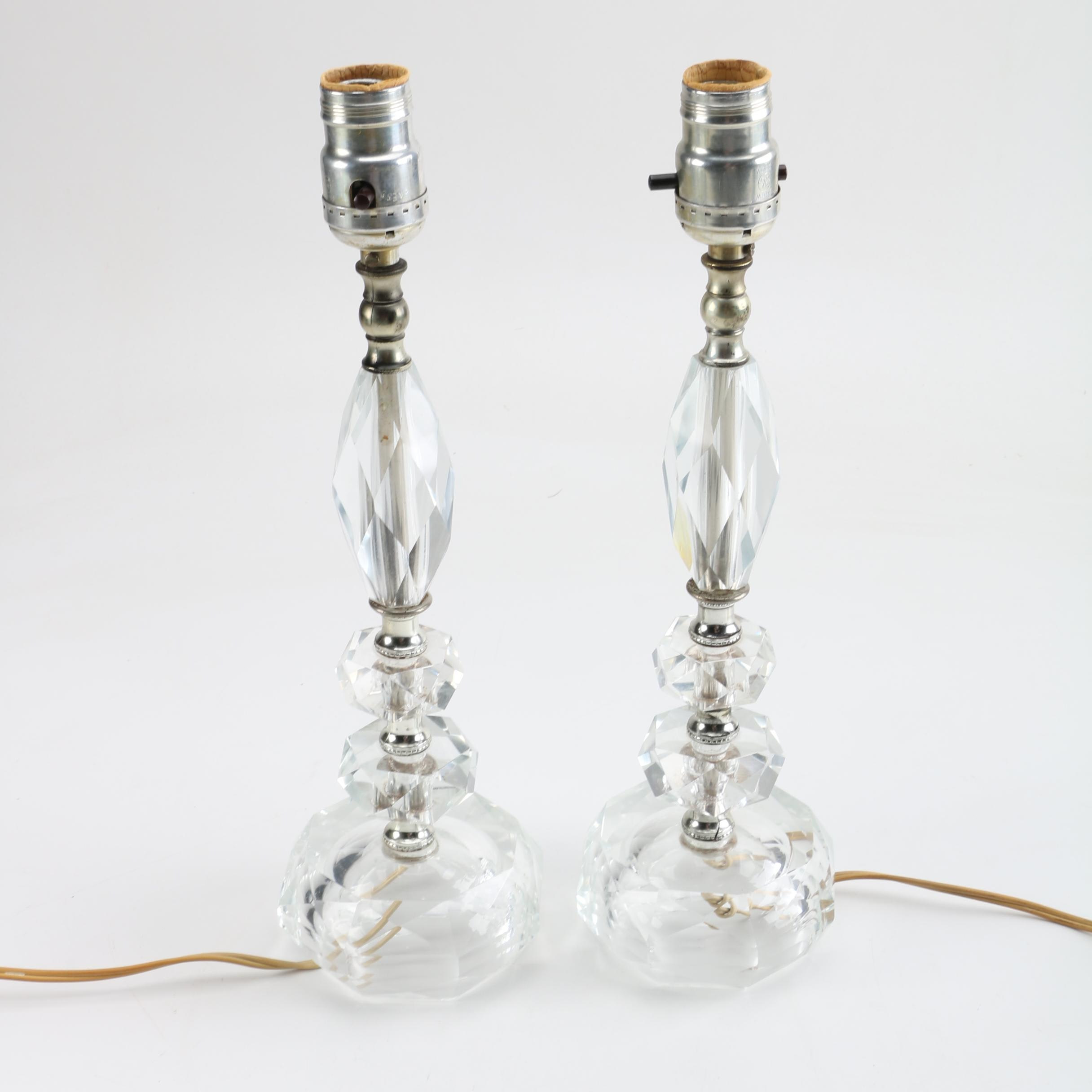 Vintage Crystal Table Lamps ...