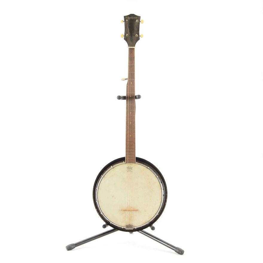 Vintage 5-String Harmony Banjo with Case