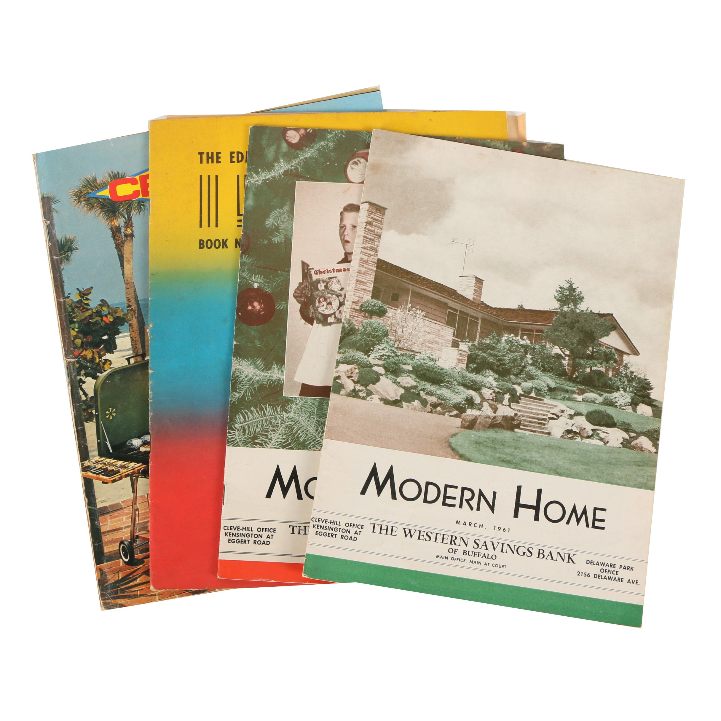 "Four Vintage Magazines Including ""Modern Home"""