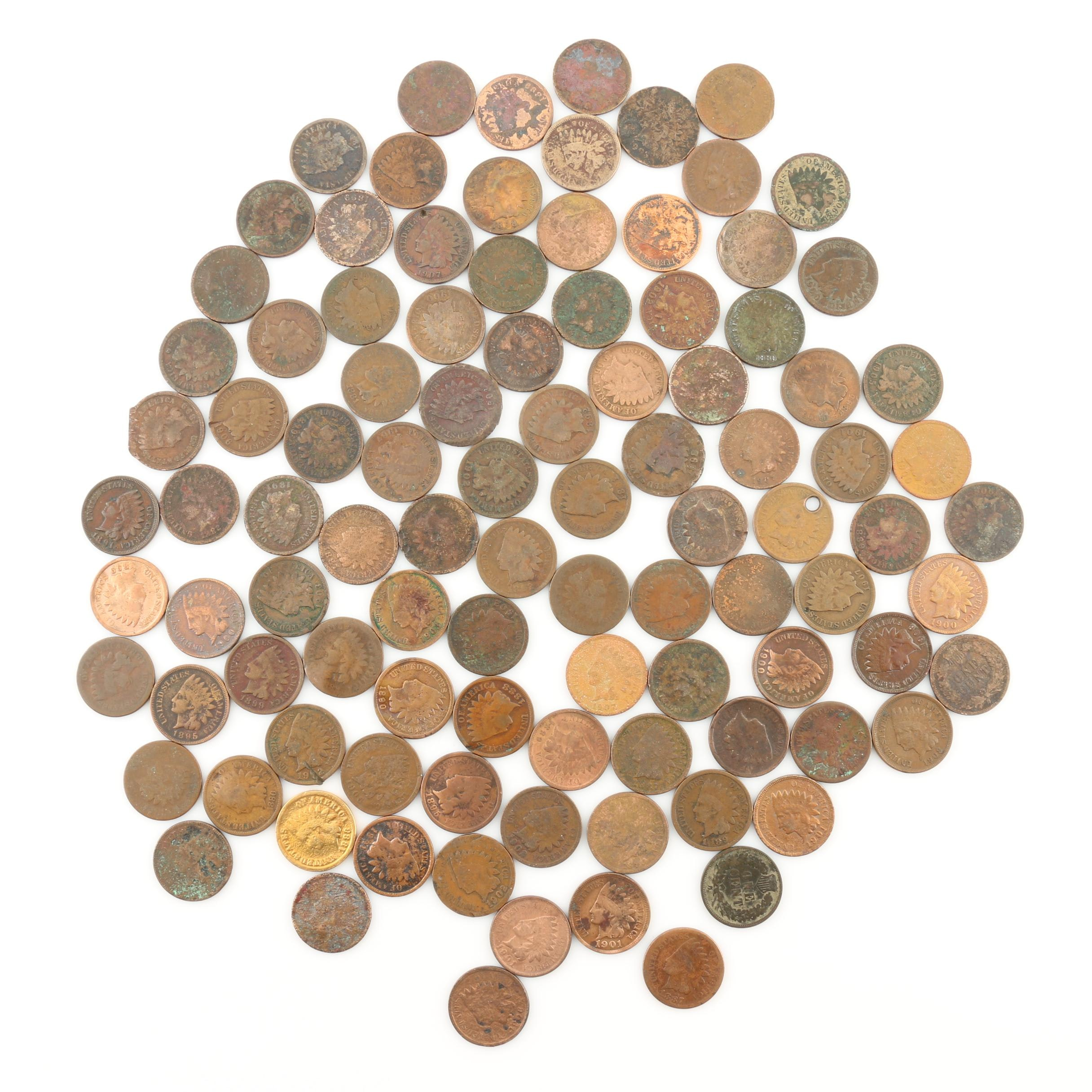 Group of 100 Indian Head Cents