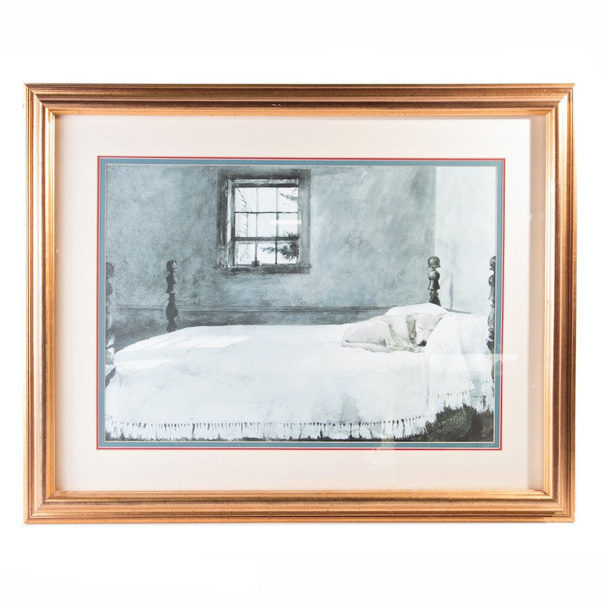 After Andrew Wyeth Offset Lithograph \