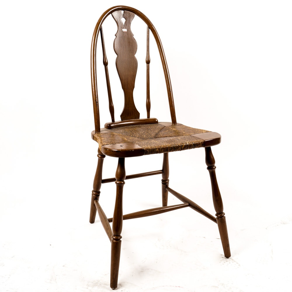 Vintage Rush Seat Side Chair