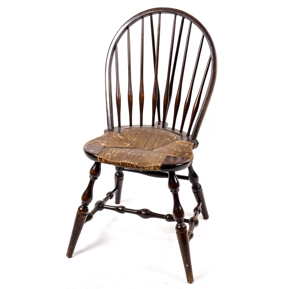 Vintage Brace Back Windsor Style Chair