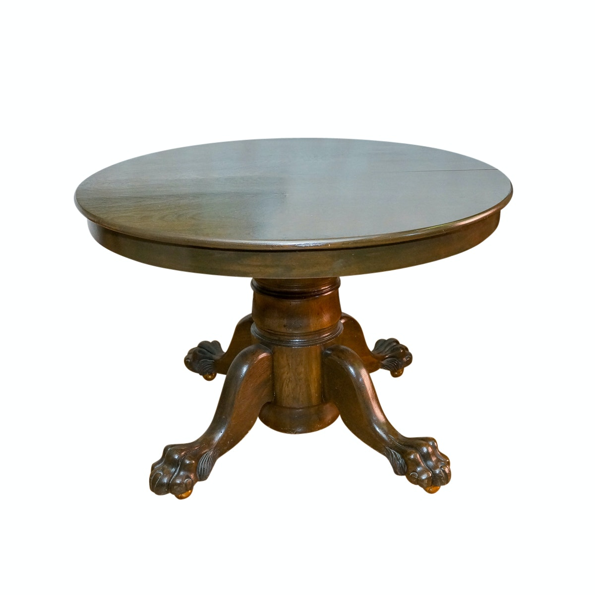 Vintage Pedestal Table with Extension Leaves