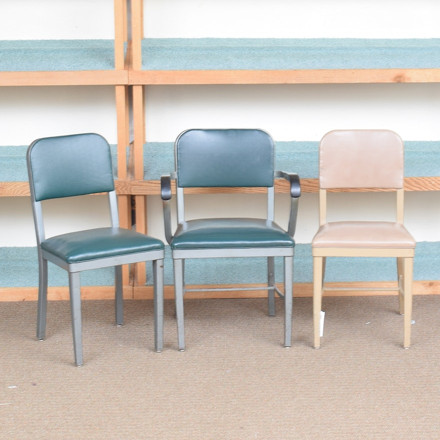 Vintage Metal Office Chairs By Royal Manufacturing
