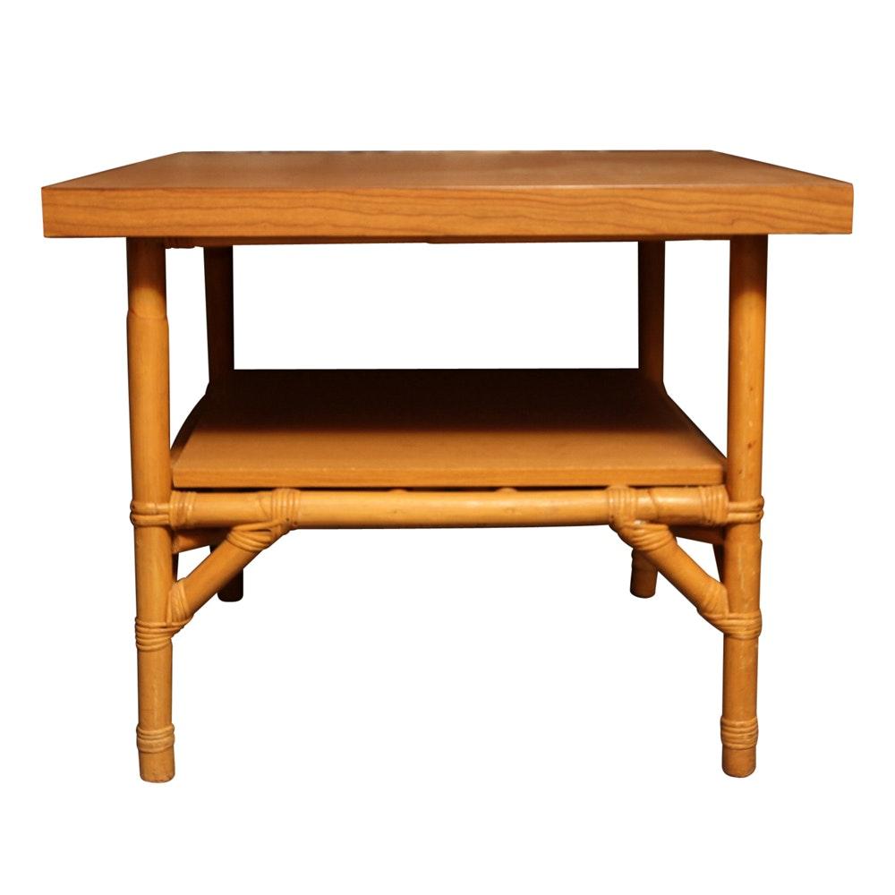 Rattan Base End Table