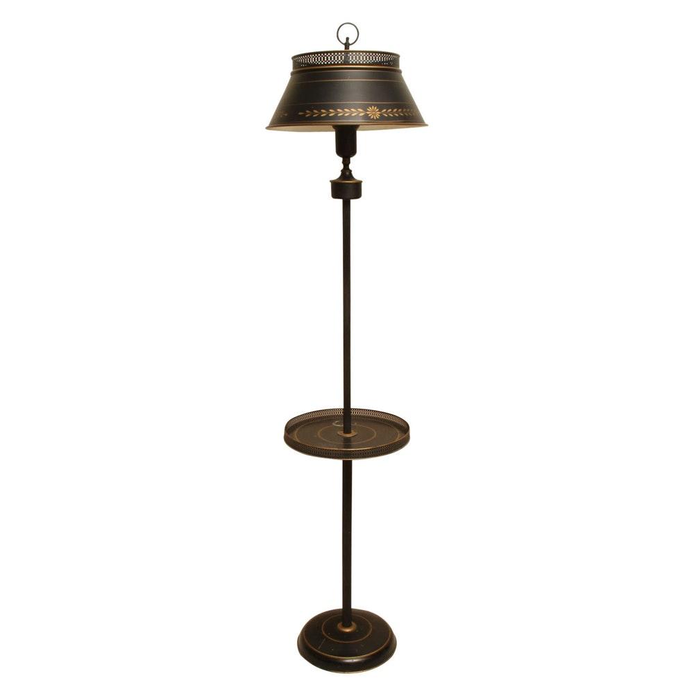 Vintage Tray Table Floor Lamp