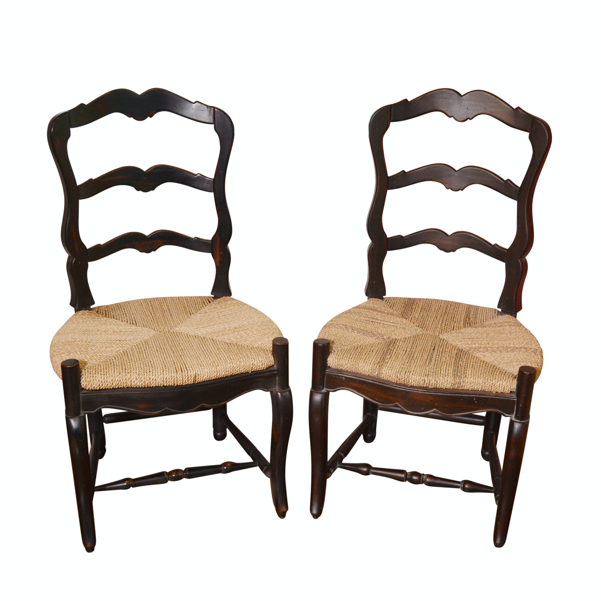 Merveilleux French Provincial Style Ladder Back Rush Seat Chairs By Marie Albert  Furnishings ...