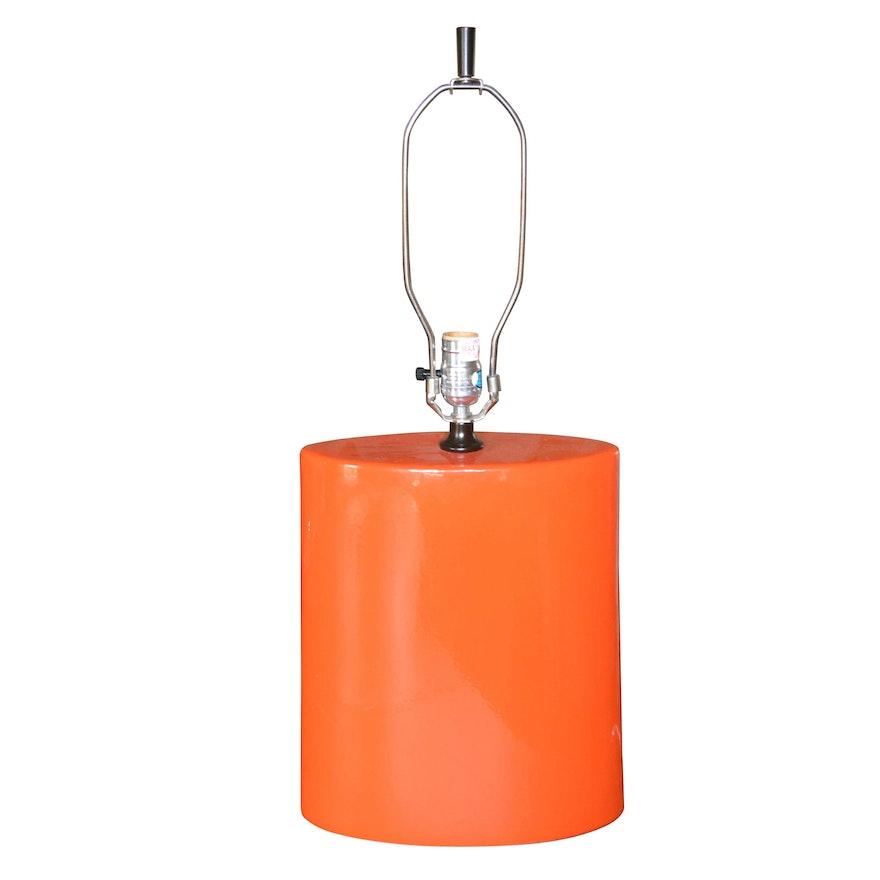 Orange Ceramic Table Lamp Ebth