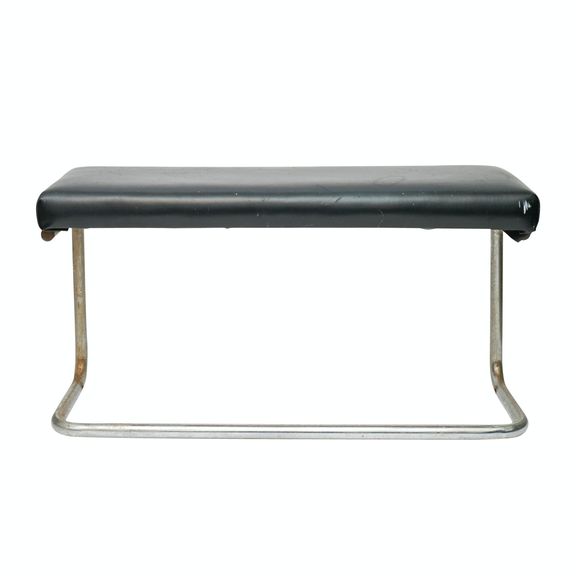 Art Deco Chromed Metal Bench