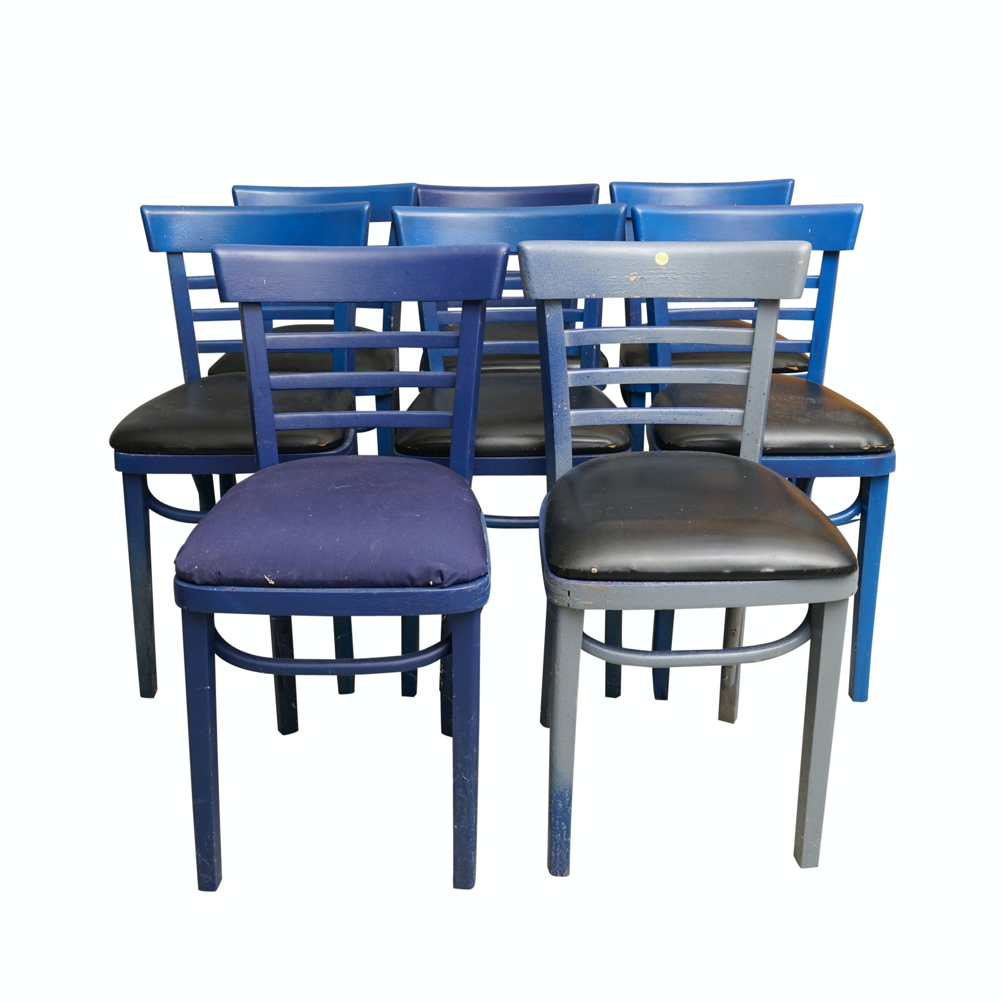 Set of Eight Painted Wood Chairs by GAR Products