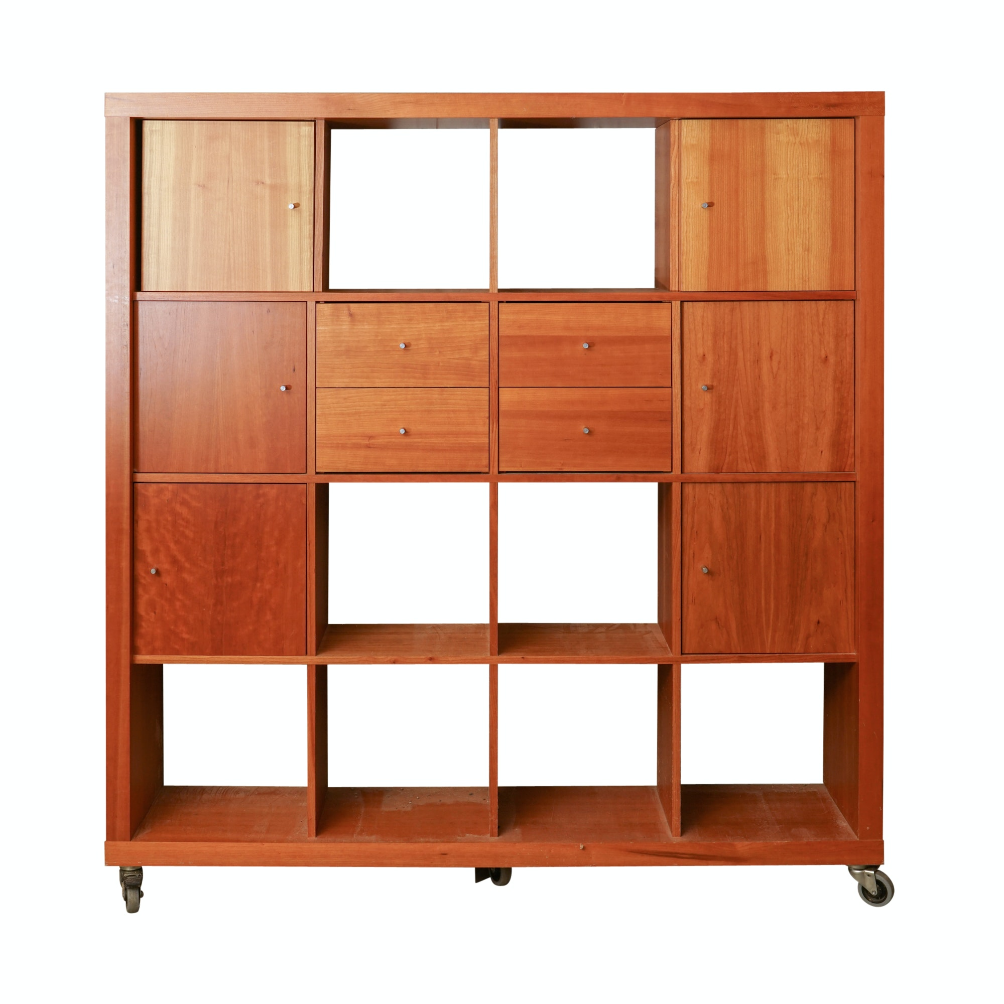 Contemporary Wood Room Divider Cabinet