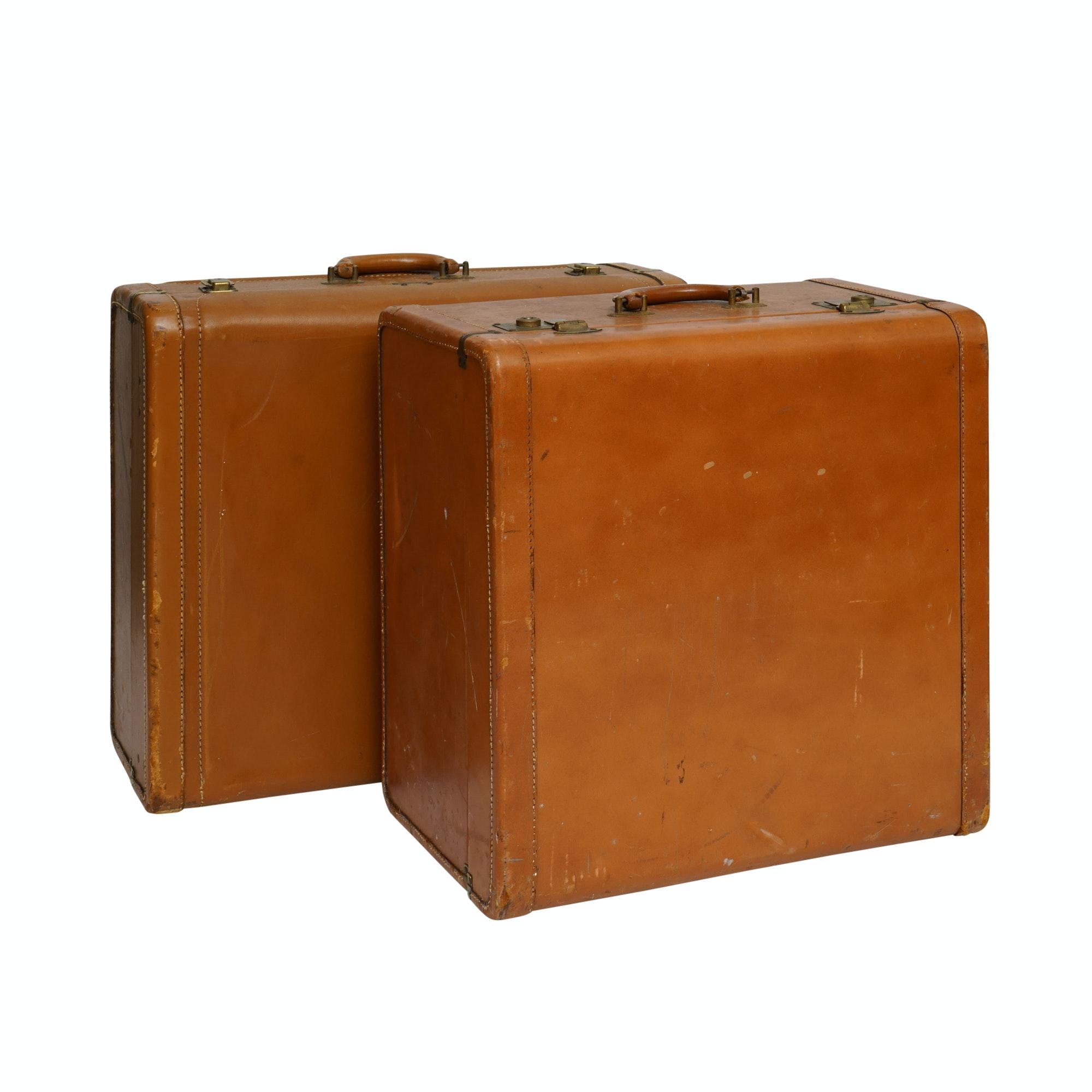 Vintage Superlite Leather Suitcases