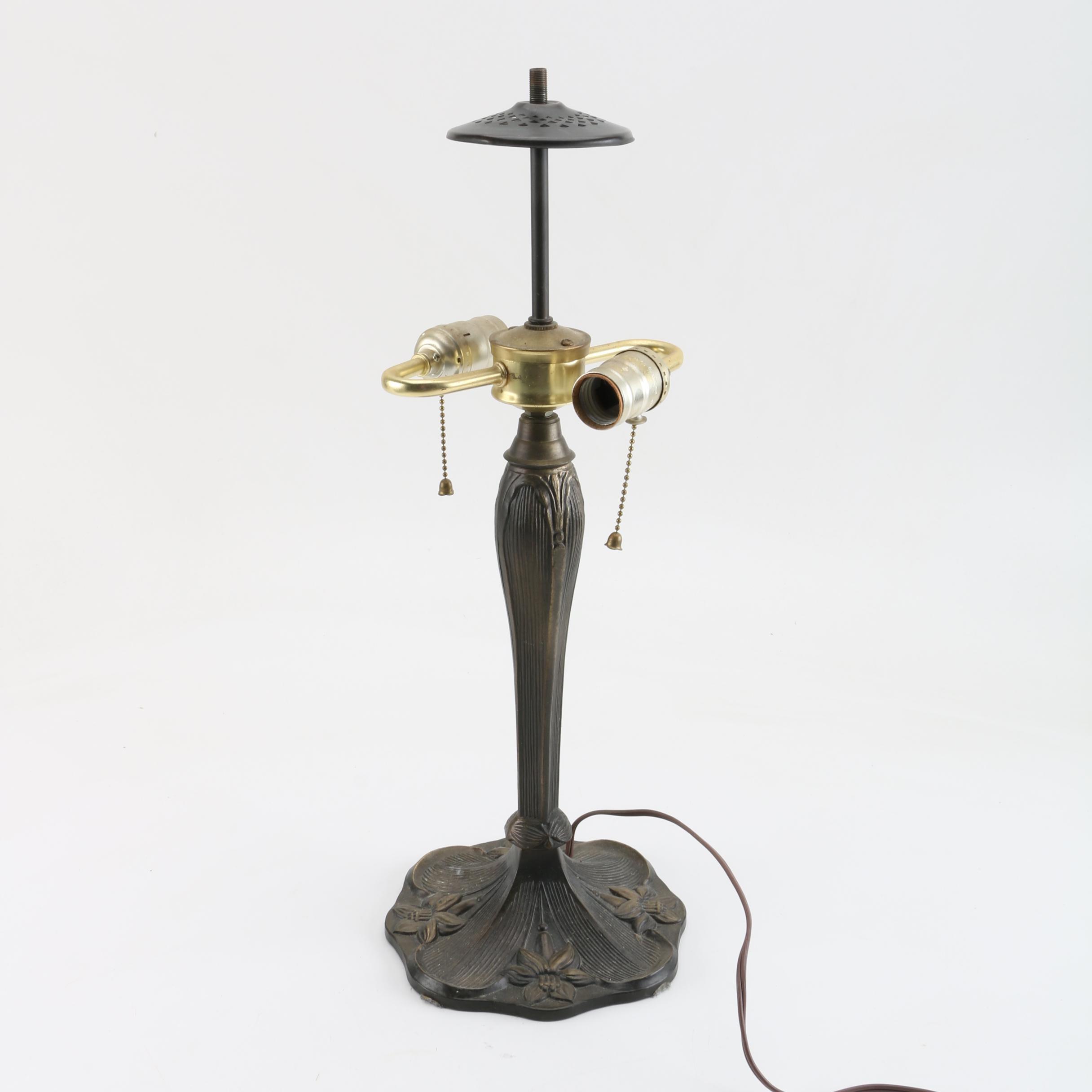 Art Nouveau Metal Table Lamp Base