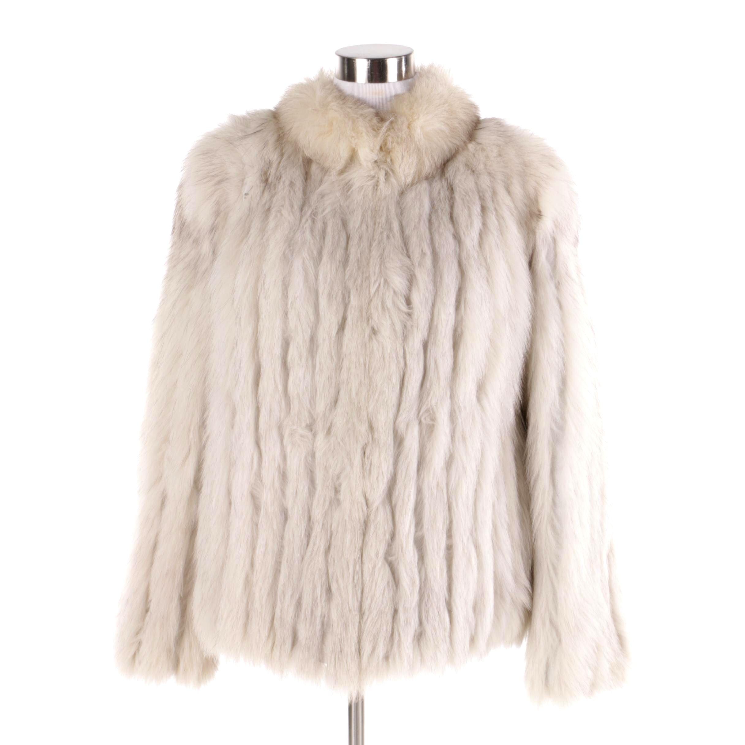 Women's Saga Fox Finnish Blue Fox Fur Coat