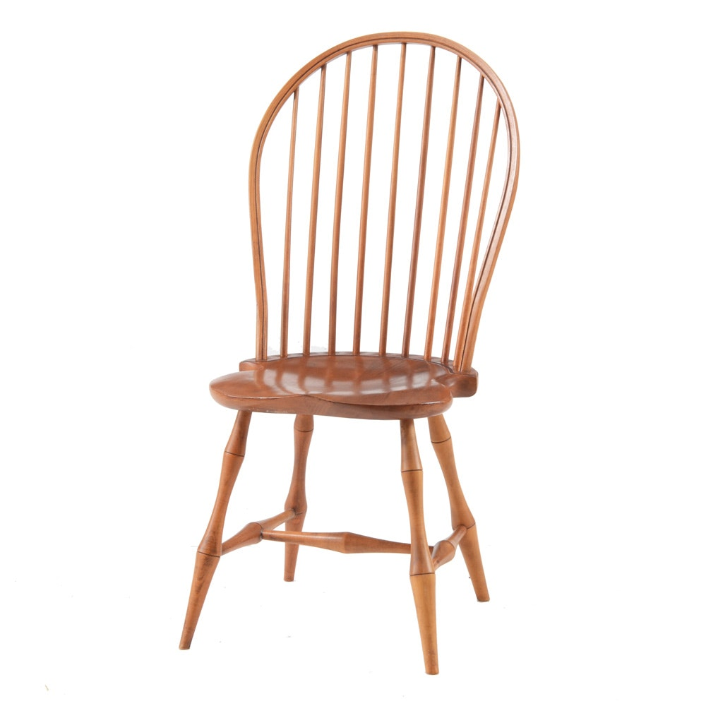 David T. Smith Bow Back Windsor Side Chair ...