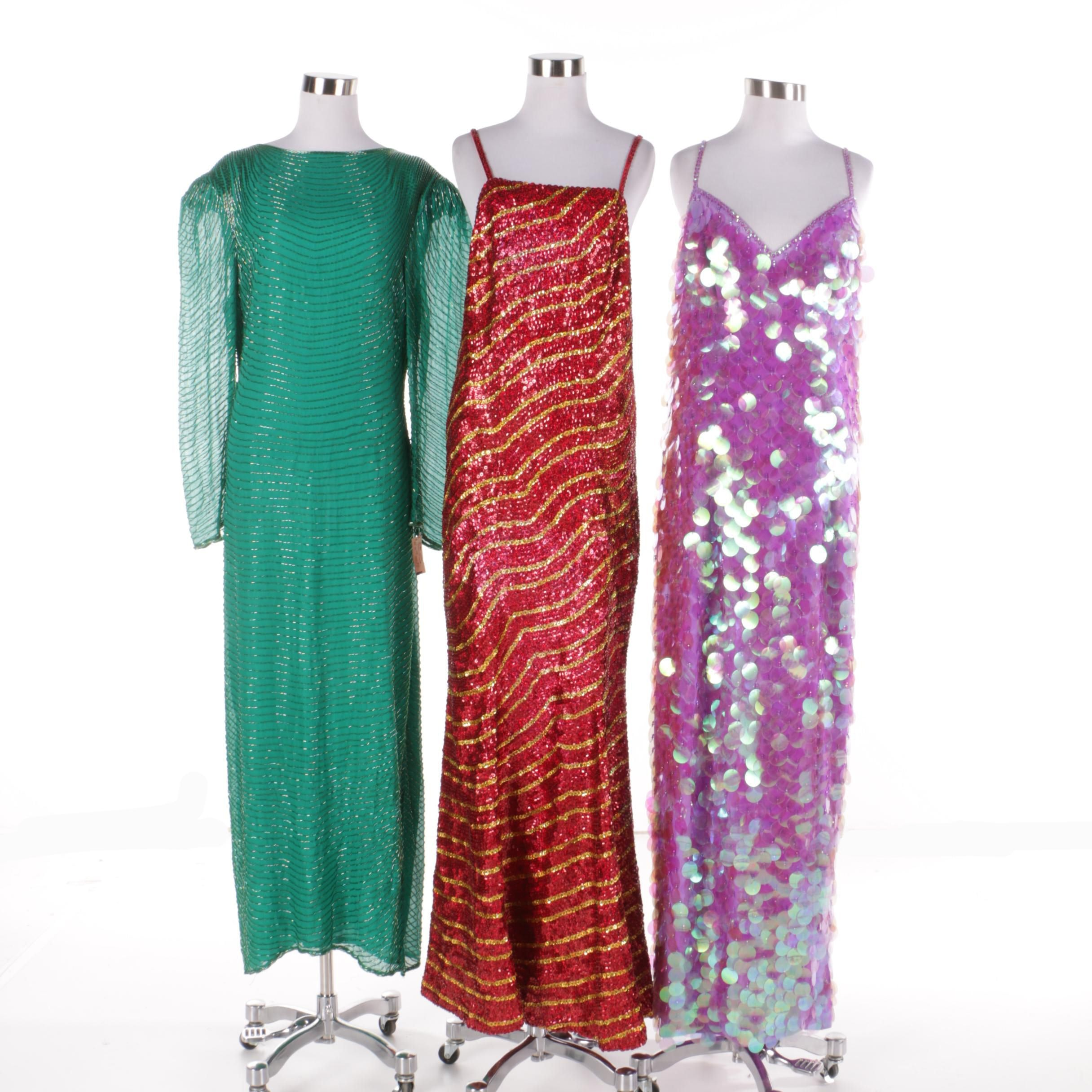 Vintage Embellished Evening Gowns with Miles and Miles