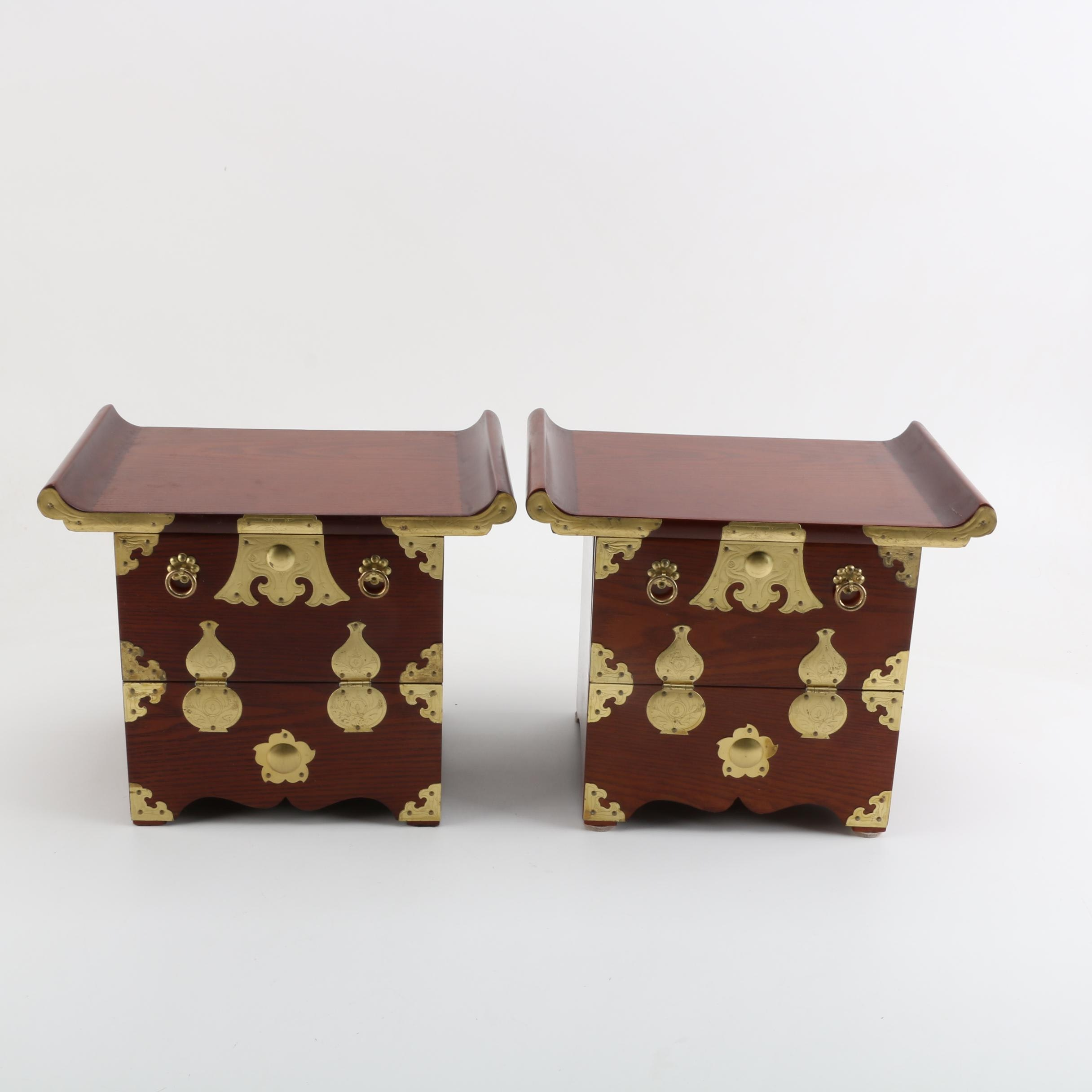 Wonderful Chinese Storage Box #11   Pair Of Chinese Decorative Storage Boxes  .