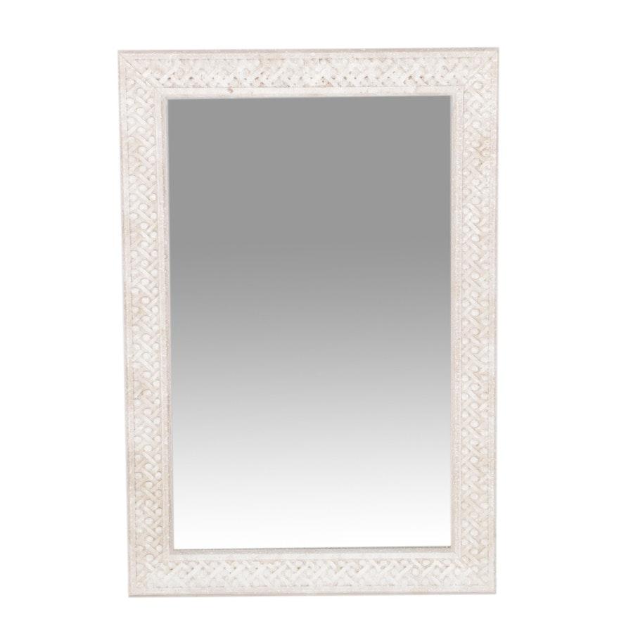 Pier 1 Wall Mirror With Meridian Stone Frame Ebth