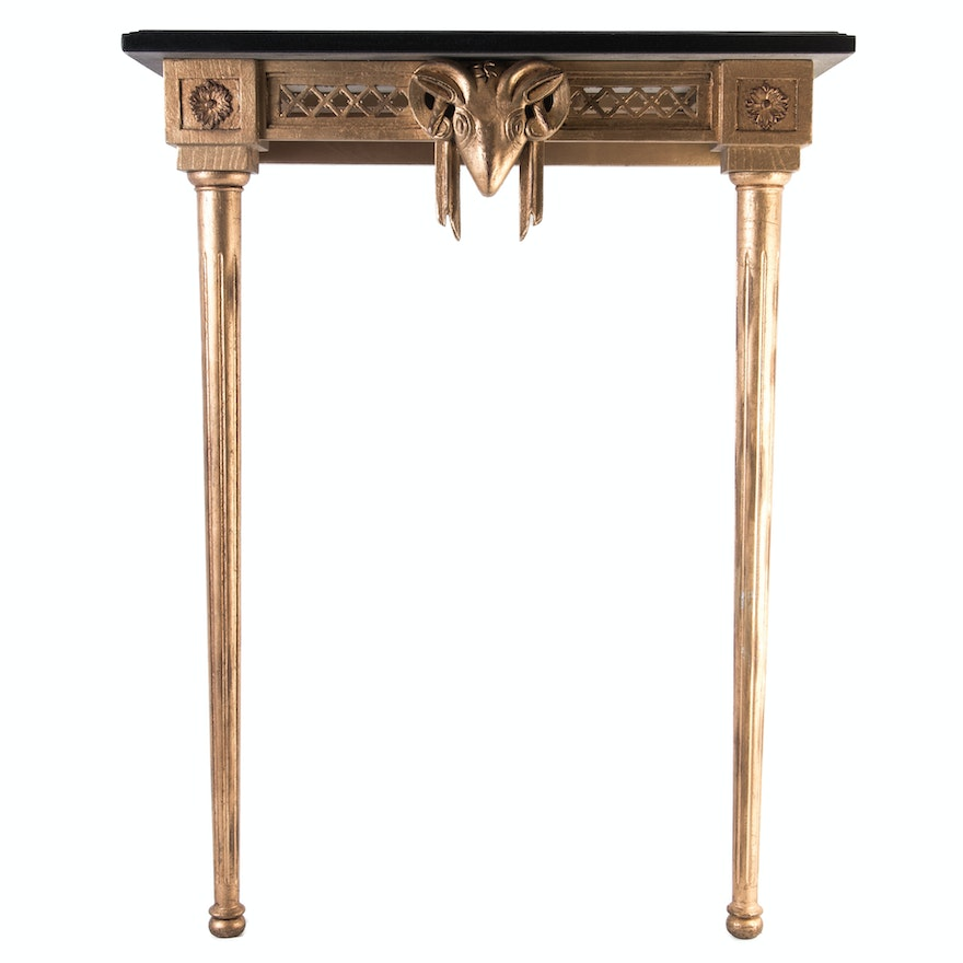 Neoclical Inspired Wall Mounted Entry Table